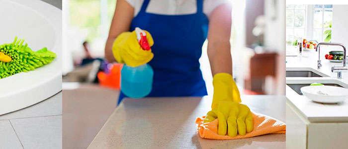 Limpiar la casa para eliminar restos de comida para las cucarachas
