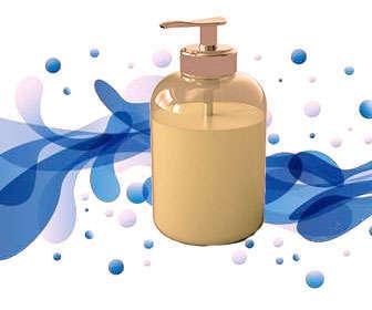 Spray con agua y jabón