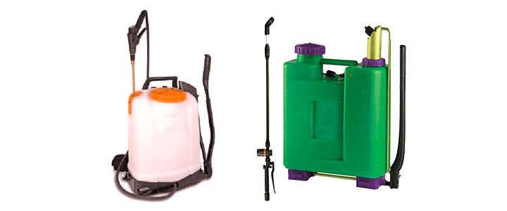 Capacidad de los depósitos de las fumigadoras de mochila