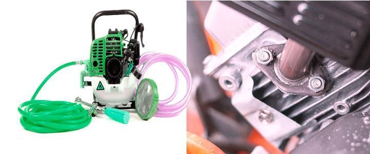 Fumigadoras con motor de 2 tiempos a gasolina