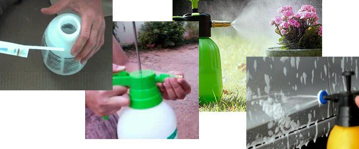 Cómo usar un pulverizador de 2 litros